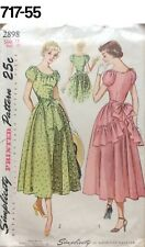 VTG Sewing Pattern Simplicity #2898 Size 11 Bust 29 Party Dress New Look 1949