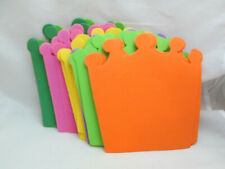 "Kids Crafts 24 Thin Foam 5 3/4"" Crown Pieces - Assorted Colors"