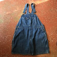 Key * Women's Blue Denim Overall Shorts * XL