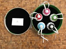 "Lenox Kate Spade LARABEE ROAD 2.5"" Globe Ornament Set 5Pc NIB Polka Dot Holiday"