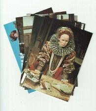 More details for glenda jackson elizabeth r full set of 8 x vintage bbc postcards