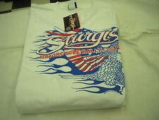 X-Large White Mens T-Shirt Sturgis 2012 South Dakota Red/white/blue Eagle