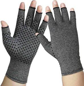 Soft Arthritis Hands Compression Gloves Fingerless Carpal Tunnel Rheumatoid Pain