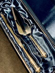 New~ Royal Caribbean RCCL Romance Silver Crystal Wedding Cake Knife Serving Set