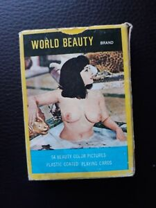Vintage Glamour Pin Up Playing World Beauty Brand 52 Cards + Jokers 1960's