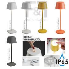 tipo Poldina Pro Lampada da Tavolo Batteria Ricaricabile Colori IP65 bianco grig