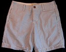 Hollister by Abercrombie, Men's Prep Fit Shorts SIZE 30 - Gray & White Stripes!