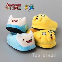 Adventure Time With Finn & Jake Stretchy Jake Soft Plush Slippers Adult Size New