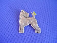 Wirehaired Fox Terrier pin Butterfly 39A Pewter Dog Jewelry by Cindy A. Conter