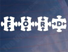 Car Stickers FORD JIGSAW Novelty Van Window Bumper Decals - Various Colours