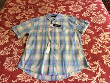NEW Tommy Hilfiger S/S Button Casual Shirt  XL Slim Fit MSRP $59.50 (GC5)