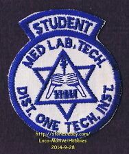 LMH PATCH Badge DISTRICT ONE TECHNICAL Institute College MEDICAL LAB TECH School