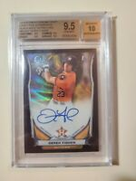2014 Bowman Chrome Black Wave Refractor Derek Fisher #ed 01/15 (BGS 9.5) AUTO 10