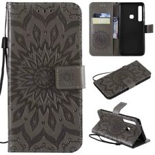 For Motorola MOTO One Vision Leather butterfly Wallet Holder Cover Sikn Case