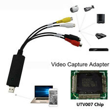USB 2.0 Video Audio VHS to DVD Converter Capture Card Adapter with USB Cable