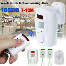 Motion PIR Sensor Wireless Alarm With 2 Remote Controls Shed Home Garage Carava
