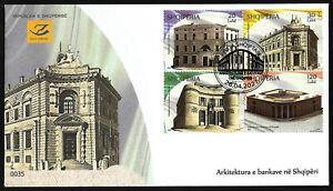 """ALBANIA  2020 """" Banking Archicecture in Albania """" FDC"""
