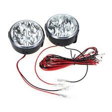 12V White 4 LED Round Daytime Running Light DRL Car Fog Day Driving Lamp US E4R3