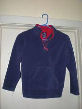 Boy's KFI Foot Locker High Zip Collar Fleece Pullover Medium 10-12 Blue/Red