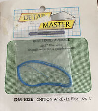 "DETAIL MASTER DM 1026 Ignition Wire Lt. Blue 1/24 Model 3' (feet) .012"" Dis Wire"