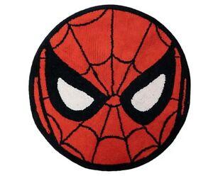 Marvel Spiderman Round Bath Rug in Red Super Hero