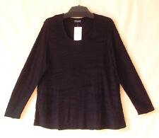 Samoon Shirt Gerry Weber Longstyle 100% Viskose schwarz Neu Damen Gr.46