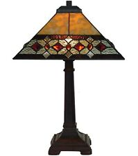 Tiffany Style Table Lamp 53cm Pyramid Diamond Glass Shade 35cm Buy 2 Save 10