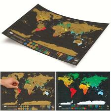 Scratch Map Deluxe Travel Edition Off World Poster Personalized Journal Log - CB