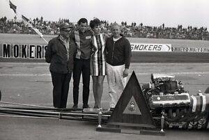 Don Prudhomme & Ed Pink @ Bakersfield Trophy Award - Vintage 35mm Race Negative