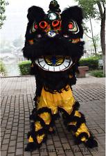 Lion Dance mascot Costume suits China Folk art wool Southern two adults black