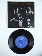 """The Rolling Stones Got Live If You Want It! Decca 1965 Unboxed 7"""" EP Single EXC"""