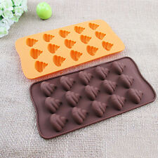 1pcs Emoji Poop Face Silicone Mold For Cake Chocoloate Candy Biscuit Ice Baking