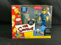 Playmates The Simpsons POLICE STATION PlaySet OFFICER EDDIE Figure Environment