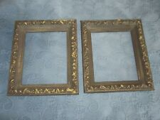 2 Ornate Picture Frames with Gold Accents, 8 by 10 Inches