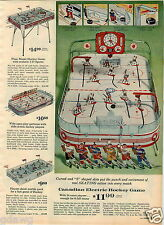 1964 PAPER AD Canadian Electric Hockey Game Magnetic Puck 4 Images Games