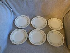 "Set of 6 Vintage Noritake ""Glencoe"" Fine China Bread Butter Dessert Salad Plates"