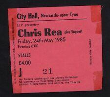 original 1985 chris rea konzert eintrittskarte vom rathaus newcastle shamrock diaries