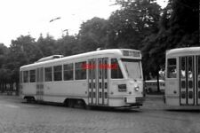 PHOTO  BELGIUM TRAM 1959 BRUXELLES-BRUSSEL STIB PCC CAR TRAM 7026 AT PLACE TERVU