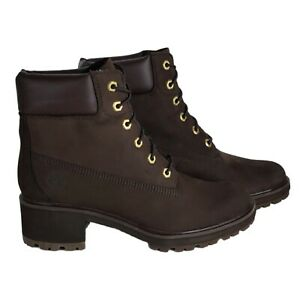 Timberland kinsley 6 inch heeled combat lace up waterproof boots Womens Size 11