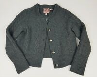 Juicy Couture grey sweater cardigan 100% Merino wool women xl gray
