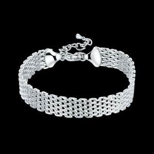 New 925 sterling Silver Bracelet for women fashion brand party jewelry gift 18CM