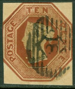EDW1949SELL : GREAT BRITAIN 1848 Scott #6 Extra Fine, Used. Incredible Cat $1200