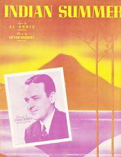 Indian Summer by Al Dubin & Victor Herbert, sheet music, 1939
