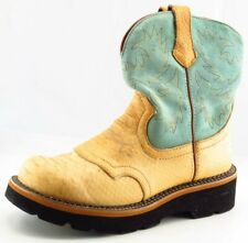 Ariat Fat Baby Boot Sz 7 M Cowgirl Round Toe Blue Leather Women