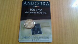 2 EUROS -ANDORRA 2017- HIMNO DE ANDORRA - COINCARD
