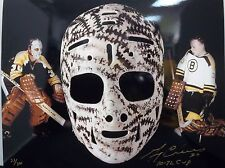 Gerry Cheevers Hand Signed Autograph 11x14 Photo The Mask HOF 85 LE 300 COA