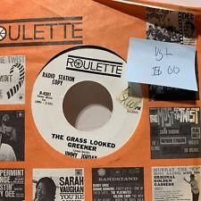 Jimmy Jordan The Grass Looked Greener- Roulette 4501 VG+ Soul 45