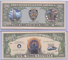 Commemorative NYPD Bill with Protector 9/11/2001 In Memory City of New York