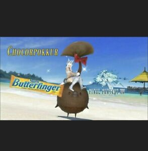 Final Fantasy XIV 14 Butterfinger CHOCORPOKKUR Mount Code (IN HAND) FFXIV Email
