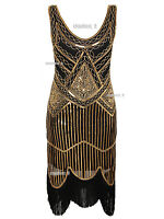 Art Deco Great Gatsby Inspired Sequins Tassel Beaded  Party 1920s Flapper Dress